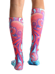 Nautical Knee High Socks
