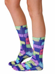 Neon Lights Crew Socks