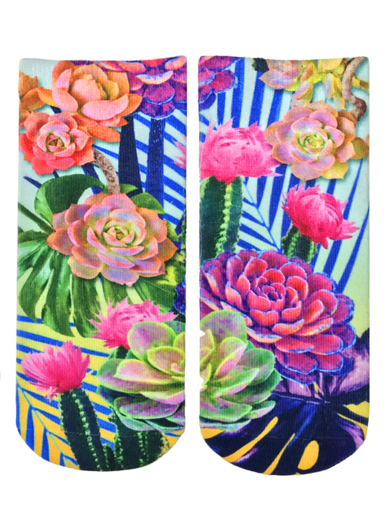 Neon Wild Ankle Socks