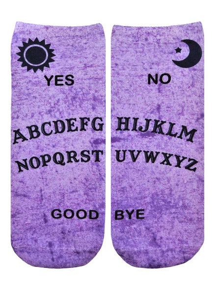 Ouija Board Ankle Socks