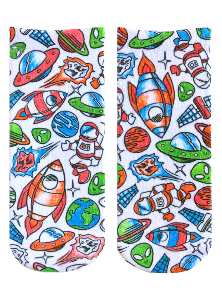 Color-In Socks Out Of Orbit