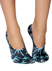 Palm Trees Liner Socks