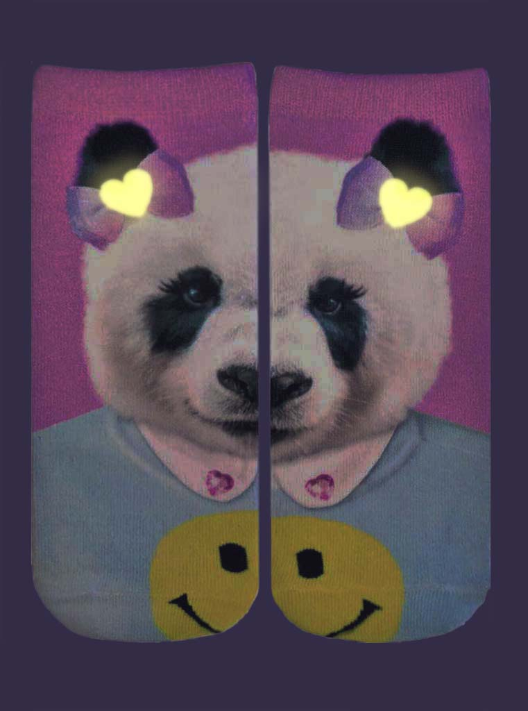 Sweet Panda Ankle Socks