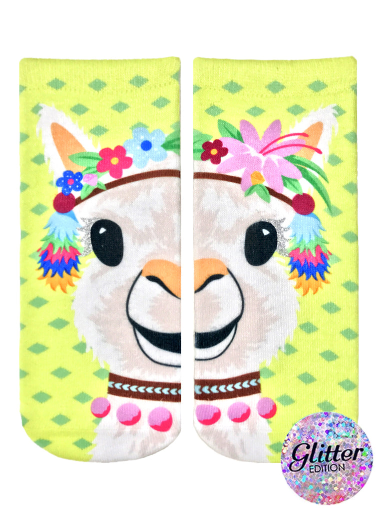 Party Llama Ankle Socks