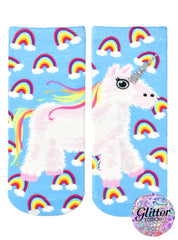 Unicorn Pinata Ankle Socks
