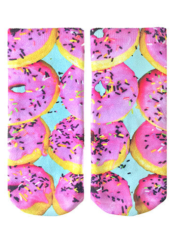 Pink Donuts Ankle Socks