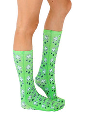 Pixel Beer And Shamrock Crew Socks