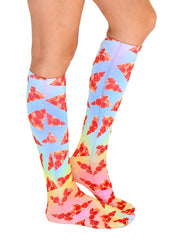 Pizza Slices Knee High Socks