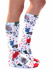 Poker Knee High Socks