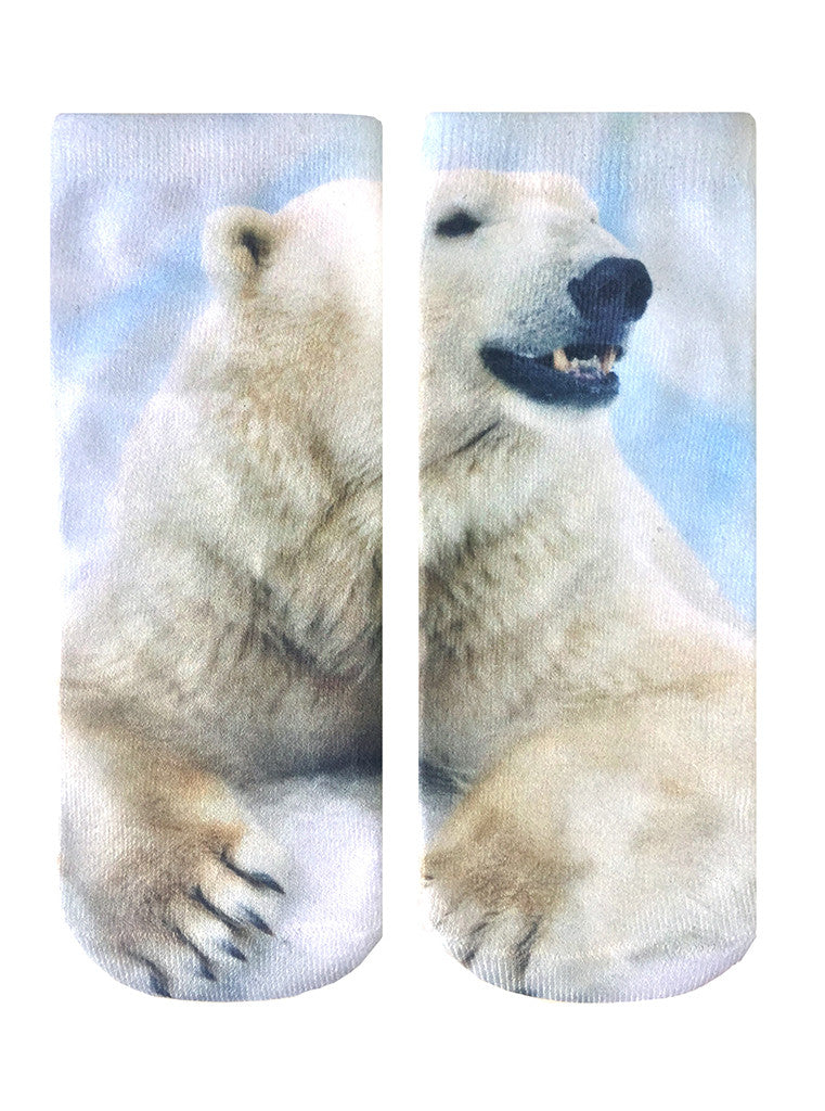 Polar Bear Ankle Socks