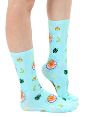 Pool Sloth Crew Socks