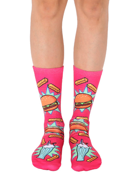 Pop Art Food Crew Socks
