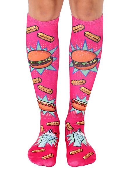 Pop Art Food Knee High Socks