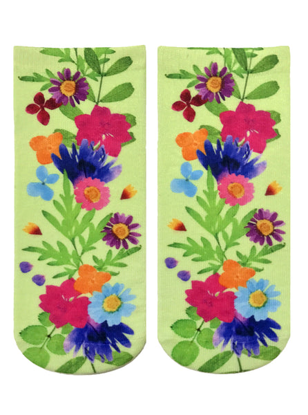 Pressed Flowers Ankle Socks