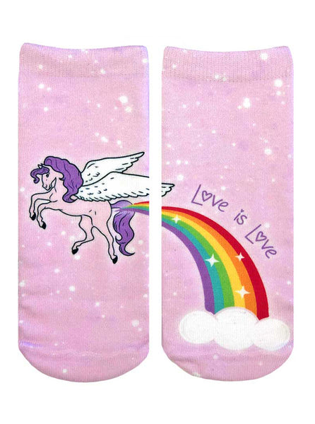 Pride Unicorn Ankle Socks