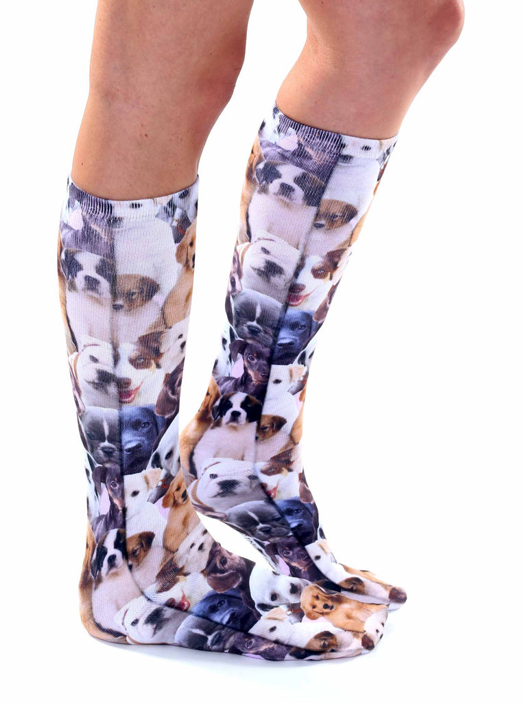 c97ace8f850 Puppy All Over Knee High Socks – Living Royal