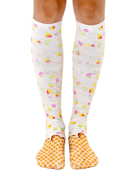 Rainbow Sprinkle Knee High Socks