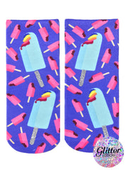 Rainbow Popsicles Ankle Socks