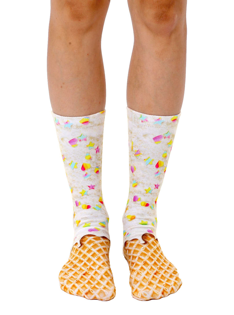 Rainbow Sprinkle Crew Socks