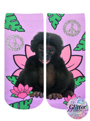 Rainforest Monkey Ankle Socks