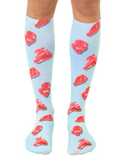 Raw Meat Knee High Socks