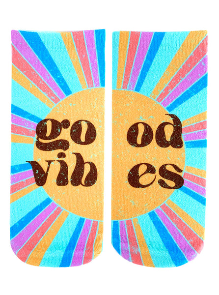 Retro Good Vibes Ankle Socks