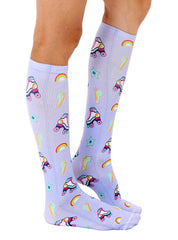 Roller Skate Knee High Socks