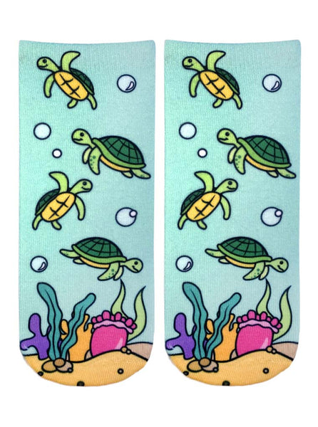 Sea Turtle Ankle Socks
