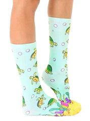Sea Turtle Crew Socks