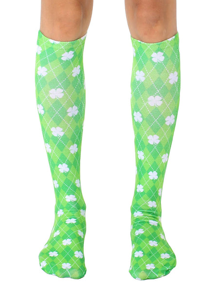 Shamrock Knee High Socks