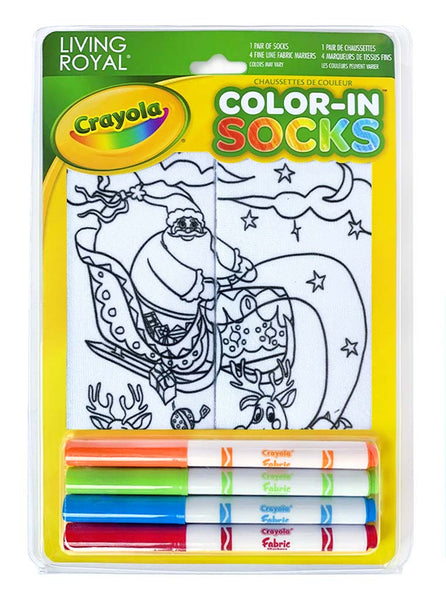 Color-In Socks Sleigh Ride