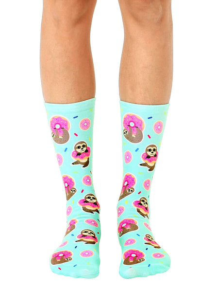 Sloth Donut Crew Socks