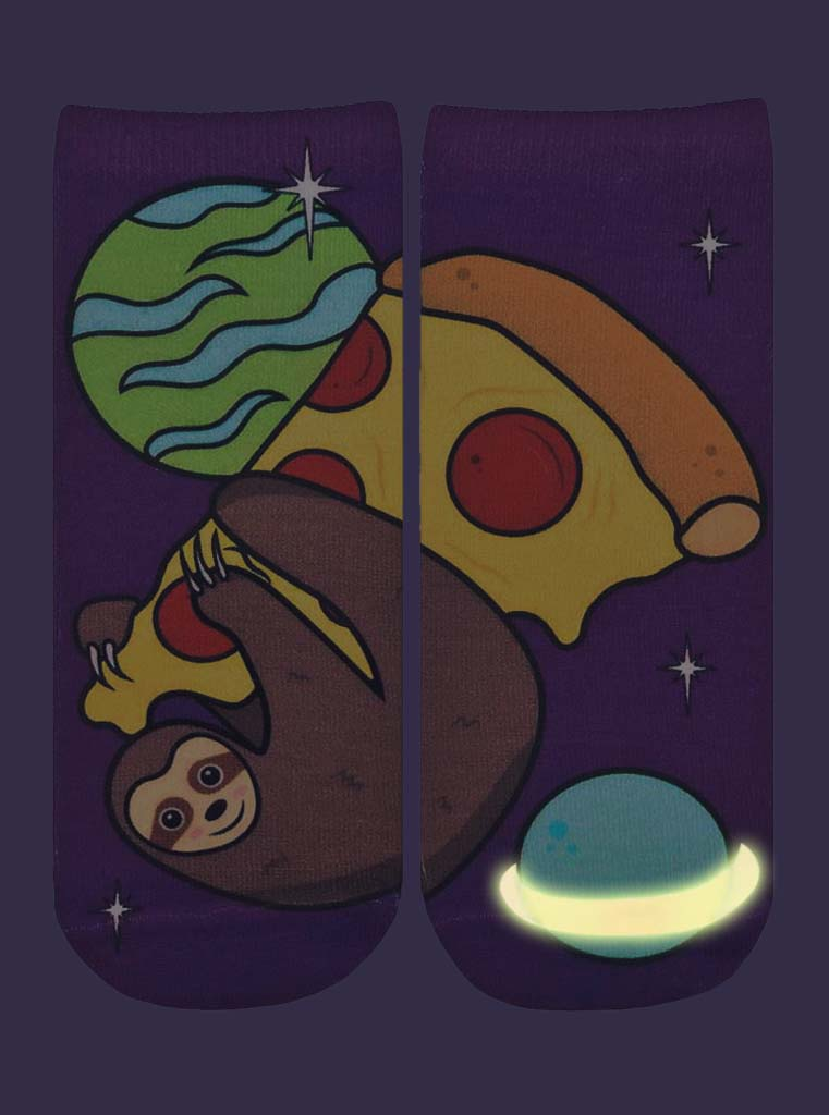 Pizza Sloth Ankle Socks