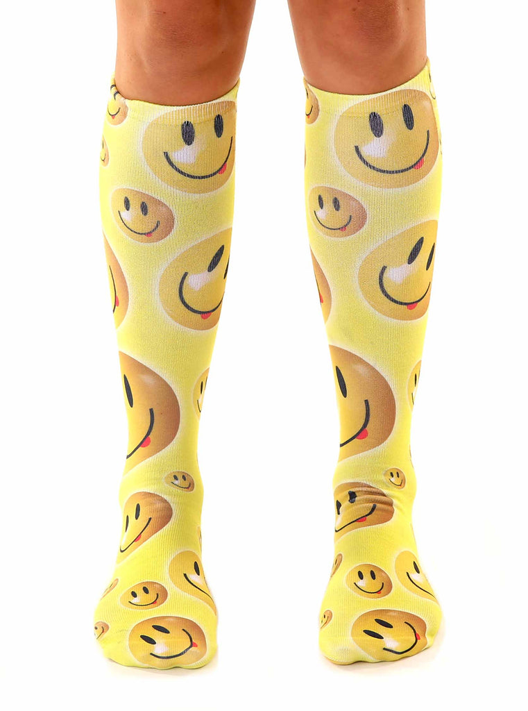 Smiley Knee High Socks