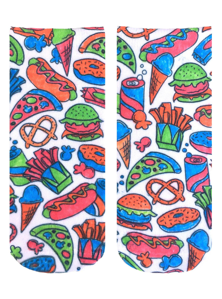Color-In Socks Snack Attack