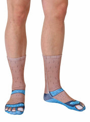 Socks and Sandals Tan Crew Socks
