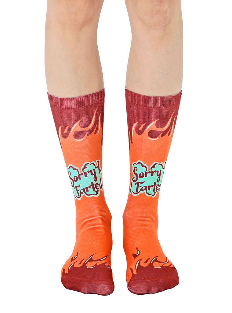 Sorry I Farted Crew Socks