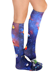 Space Junk Knee High Socks