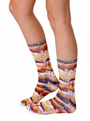 Stacked Donut Crew Socks