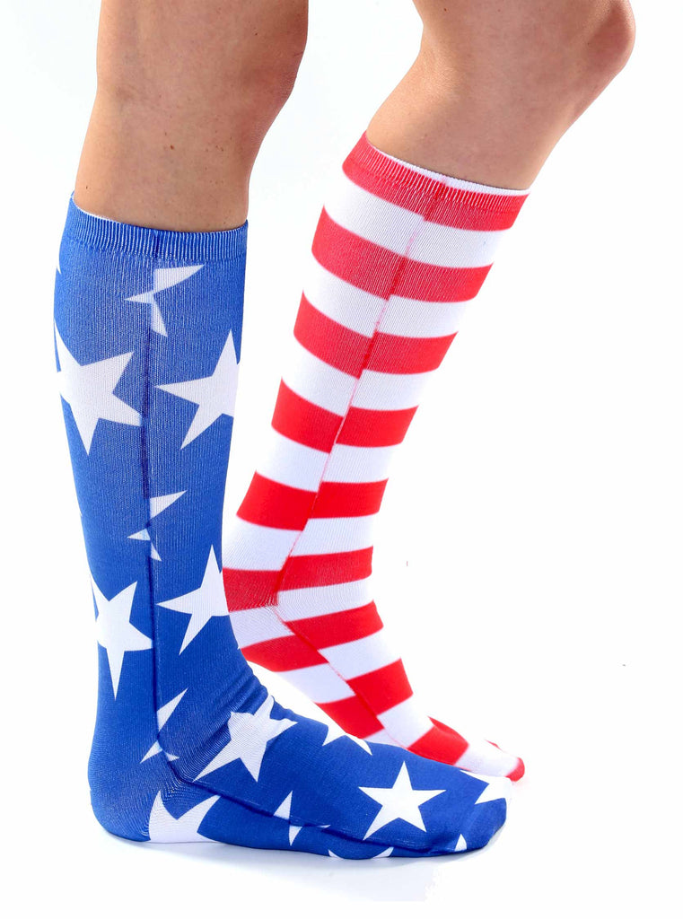 Stars and Stripes Knee High Socks