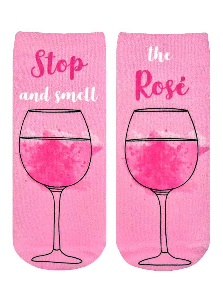 Stop And Smell Rose Ankle Socks