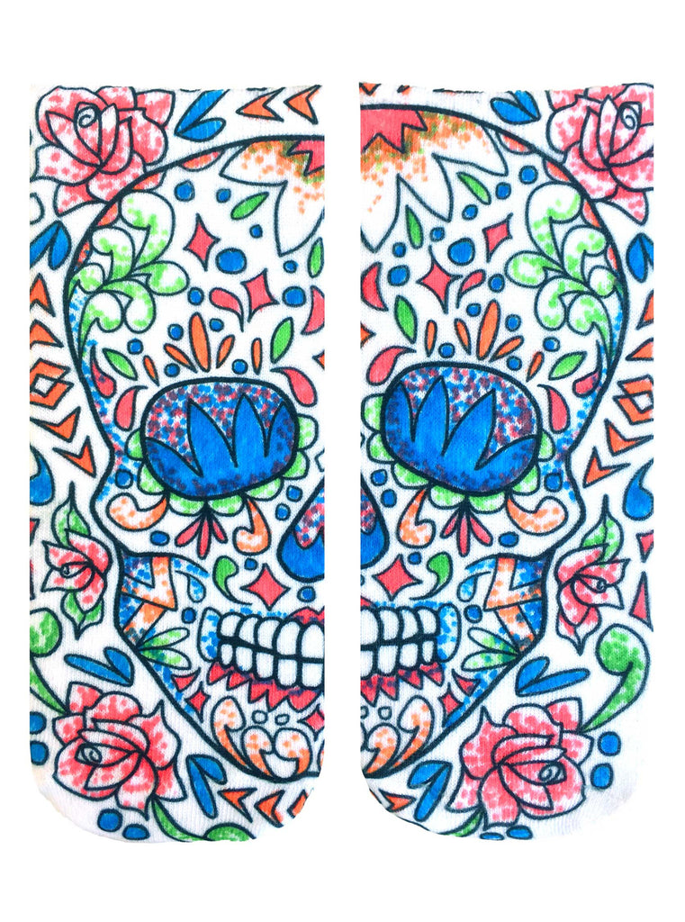 Color-In Socks Sugar Skull
