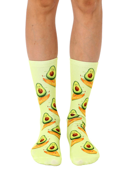 Surfing Avocado Crew Socks