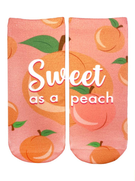 Sweet As A Peach Ankle Socks