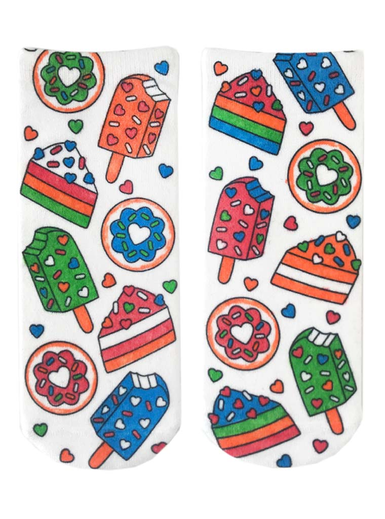 Color-In Socks Sweet Snacks
