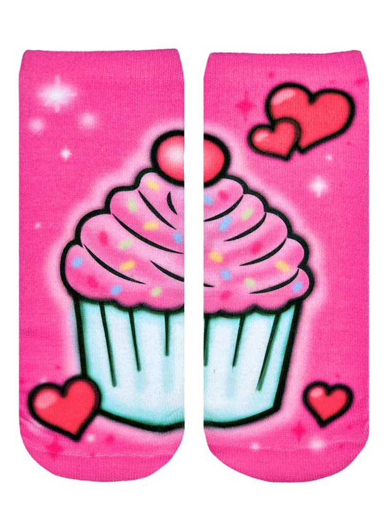 Sweet Treats Airbrush Ankle Socks