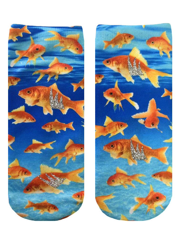 Swimming Goldfish Ankle Socks
