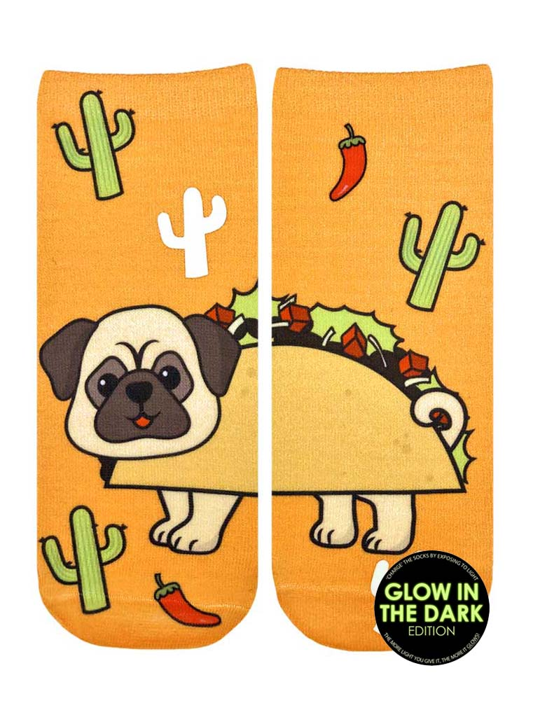 Taco Pug Ankle Socks