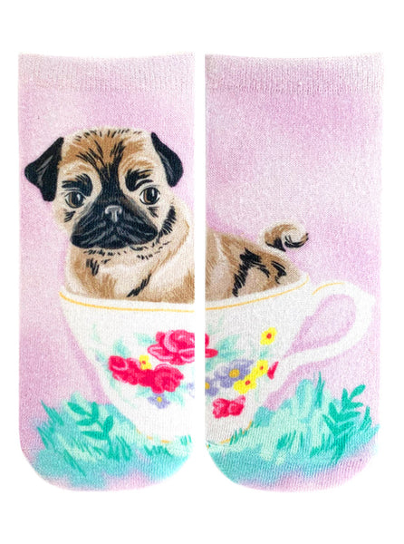 Teacup Pug Ankle Socks