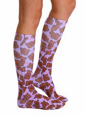 Teddy Bear Knee High Socks